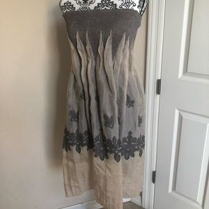 Lapis Gray strapless Dress/Skirt/Cover-Up.